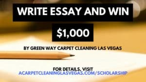 Write and Essay and win a donation from GreenWay Carpet Cleaning