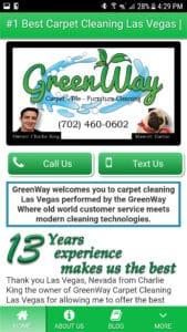 Custom Built Carpet Cleaning Mobile Site