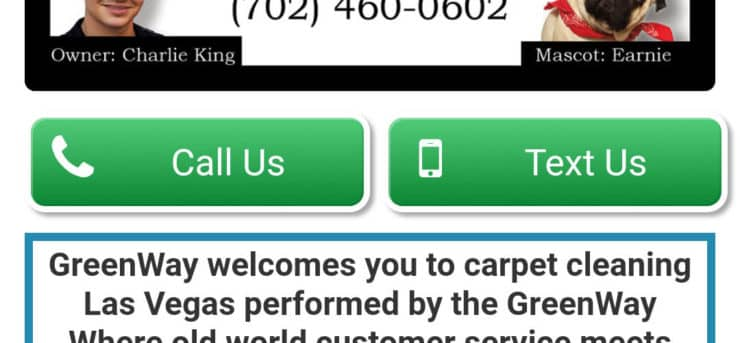 GreenWay Carpet Cleaning Las Vegas Mobile Site