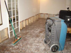 Drying house water damge flood